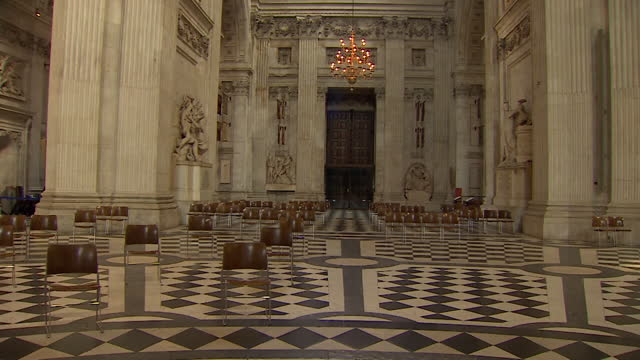 interior of empty st paul's cathedral - place of worship stock videos & royalty-free footage