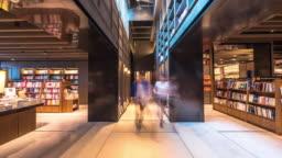 interior of famous book store in suzhou. timelapse 4k hyperlapse