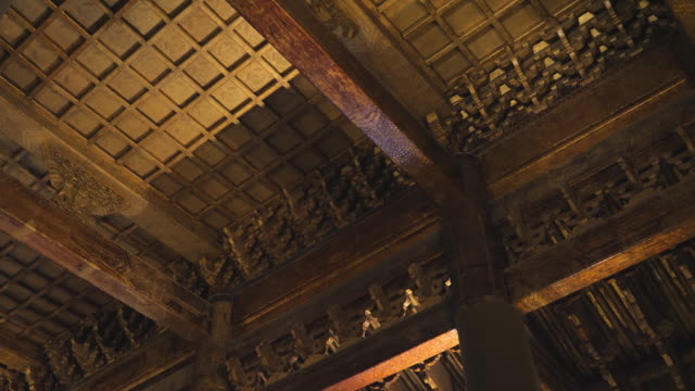 la ms interior of forbidden city, unesco world heritage site, beijing, china - palace stock videos & royalty-free footage