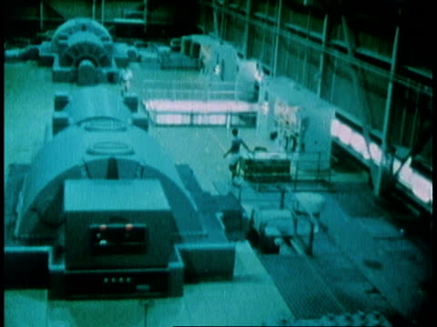 1978 montage interior of generator / united states - generator stock videos and b-roll footage