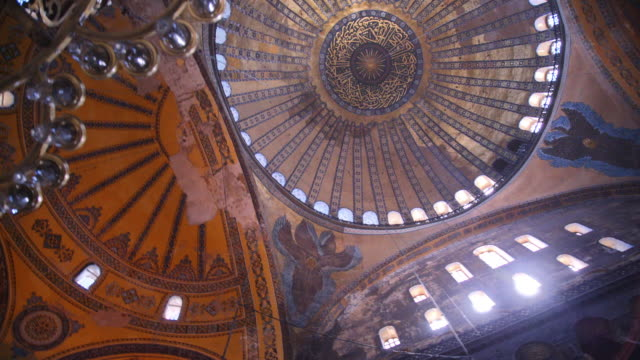 interior of hagia sophia, istanbul, turkey - empire stock videos & royalty-free footage
