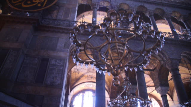 interior of hagia sophia, istanbul, turkey - mosque stock videos & royalty-free footage