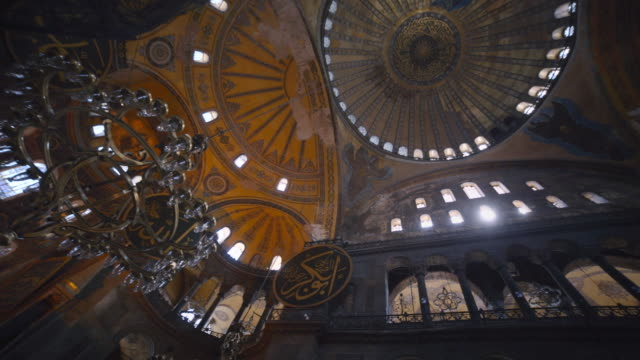 interior of hagia sophia, istanbul, turkey - byzantine stock videos & royalty-free footage