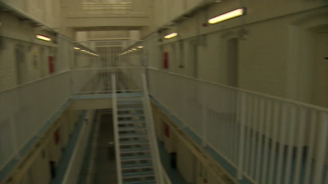 interior of hmp liverpool prison showing outside of closed cells - prison stock videos & royalty-free footage
