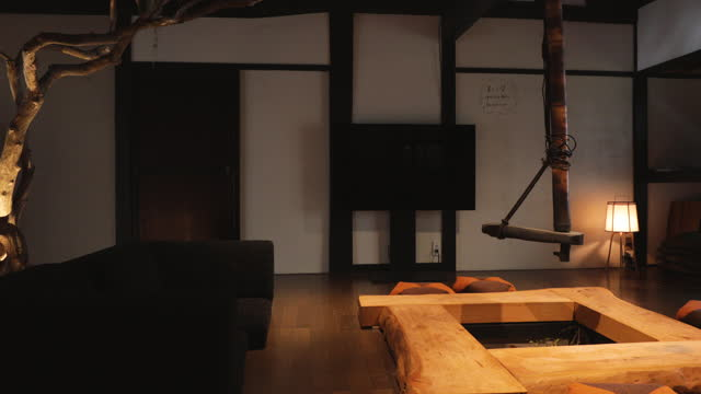 interior of japanese accommodations - tradition stock videos & royalty-free footage