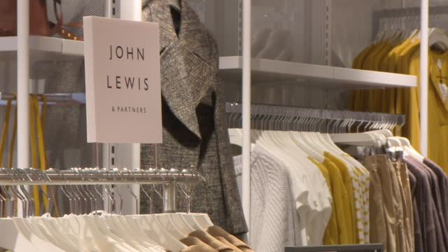 interior of john lewis department store, who have announced store closures following coronavirus pandemic - department store stock videos & royalty-free footage