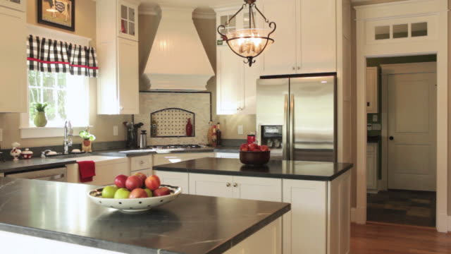 """ms pan interior of kitchen in house / quinton, virginia, united states "" - kitchen stock videos & royalty-free footage"