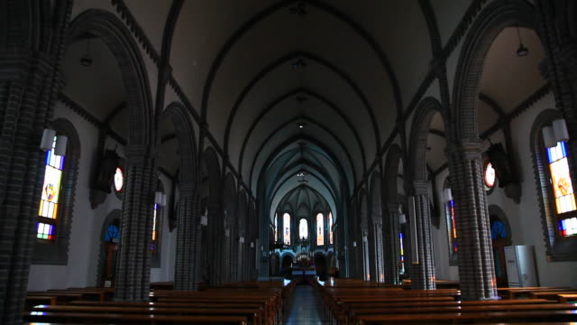 Interior of Kyesan Cathedral(travel destination)