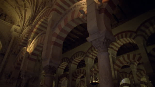 la, ms, ds, interior of la mezquita cathedral, cordoba, andalucia, spain - mesquita stock videos & royalty-free footage