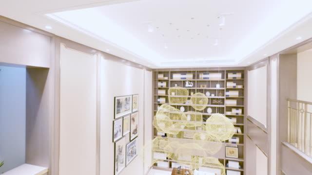 interior of luxury hall - shelf stock videos & royalty-free footage