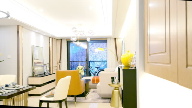 interior of luxury living room - chair stock videos and b-roll footage