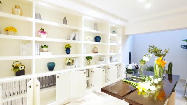 interior of luxury living room - shelf stock videos & royalty-free footage