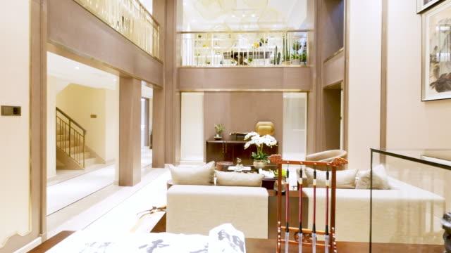 interno del soggiorno di lusso - dentro video stock e b–roll