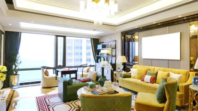 Interno del soggiorno di lusso
