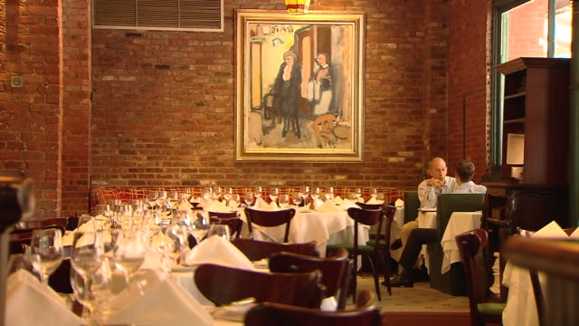interior of manhattan restaurant tribeca on june 07 2013 in new york new york - tribeca stock videos & royalty-free footage