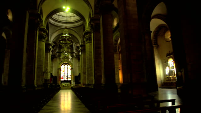 interior of metropolitan cathedral bolivia place plaza murillo - place of worship stock videos & royalty-free footage