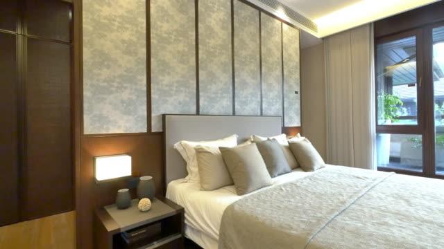 interior of modern bedroom 4k
