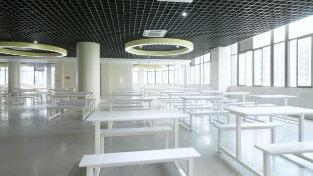 interior of modern cafeteria - dentro video stock e b–roll