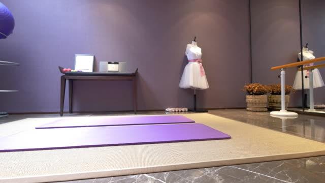 interior of modern gym 4k - dance studio stock videos and b-roll footage