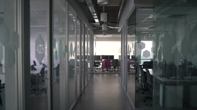 interior of modern office empty - lobby stock videos & royalty-free footage