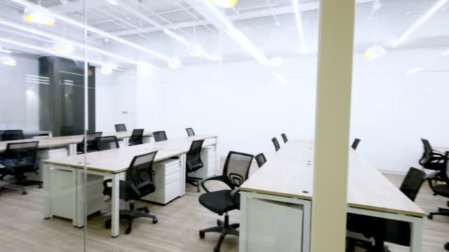 interior of modern office - business finance and industry stock videos & royalty-free footage
