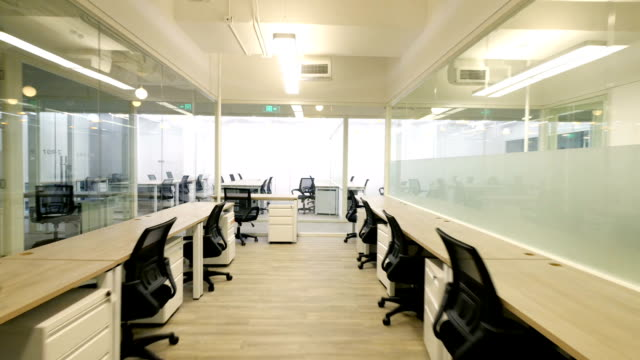 interior of modern office - ufficio video stock e b–roll