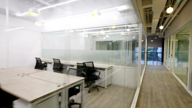 interior of modern office - office partition stock videos & royalty-free footage