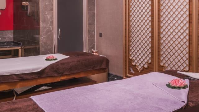 interior of modern spas - massage room stock videos & royalty-free footage
