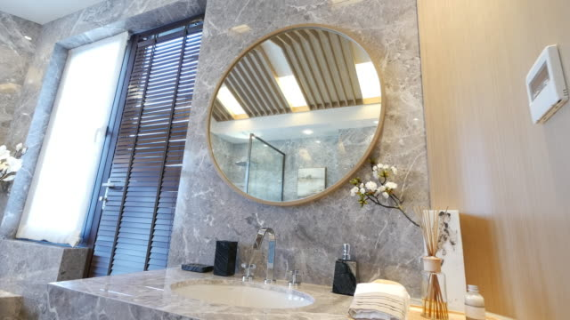 interior of modern washroom 4k