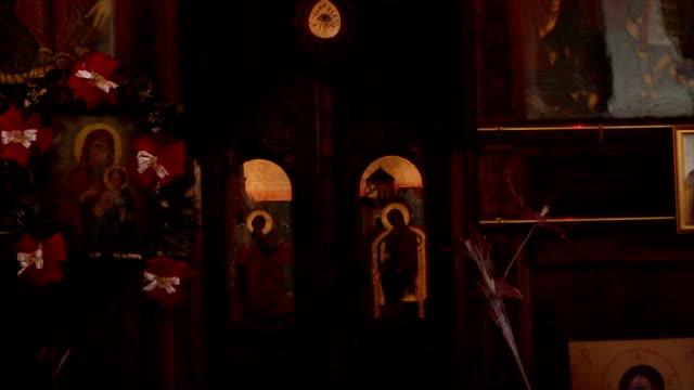 inre av ortodoxa kapell - apostel bildbanksvideor och videomaterial från bakom kulisserna