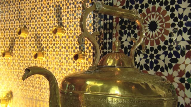 interior of palace in fez - palace video stock e b–roll