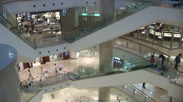 interior of taipei 101 building in taipei taiwan - taipei 101 stock videos & royalty-free footage