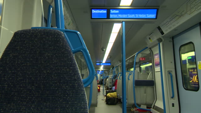 interior of thameslink train - railway station stock videos & royalty-free footage