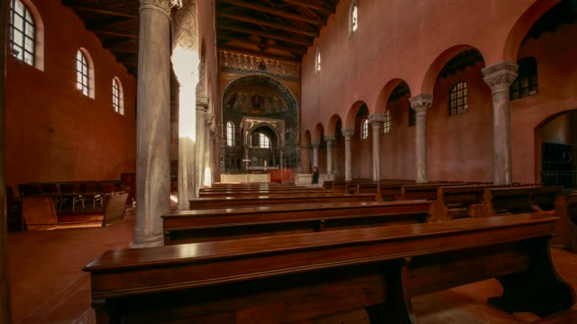 interior of the byzantine euphrasian basilica, porec, istria, croatia - byzantine stock videos & royalty-free footage