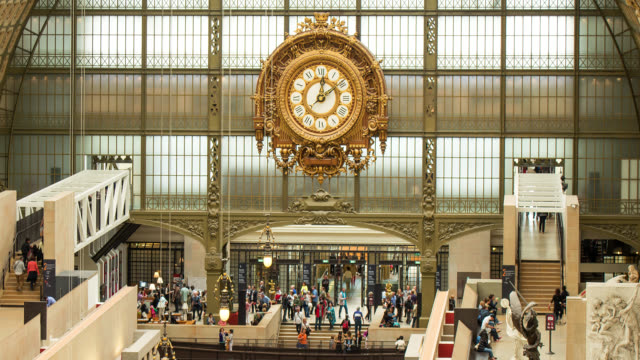 T/L WS Interior of the clock in Musee D'Orsay in Paris, France