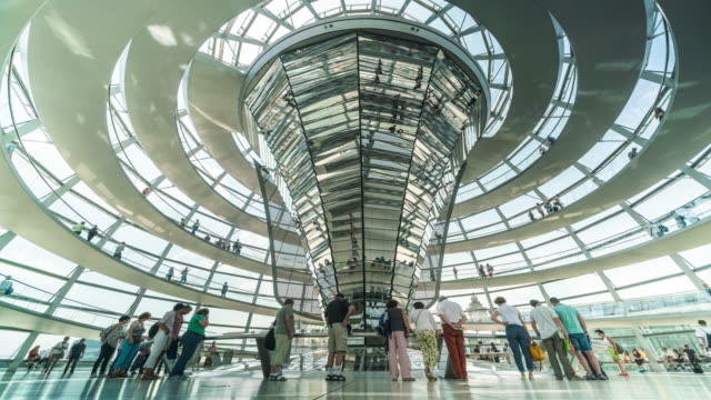 Interior of the dome at the Reichstag in Berlin, Germany