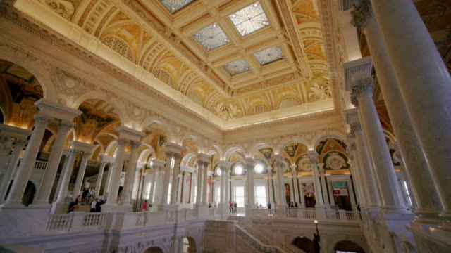 Interior of the Library of Congress in Washington D.C, USA