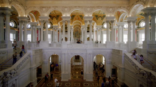 interior of the library of congress in washington d.c, usa - interior stock videos & royalty-free footage