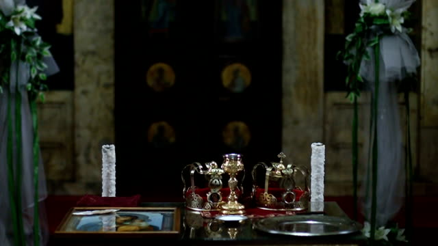 interior of the orthodox church - tracery stock videos and b-roll footage