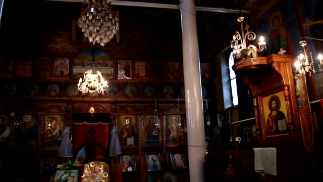 interior of the orthodox church - prophet stock videos and b-roll footage