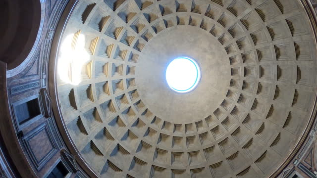 interior of the pantheon, rome, italy - condition stock videos & royalty-free footage