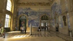 Interior of the railway station