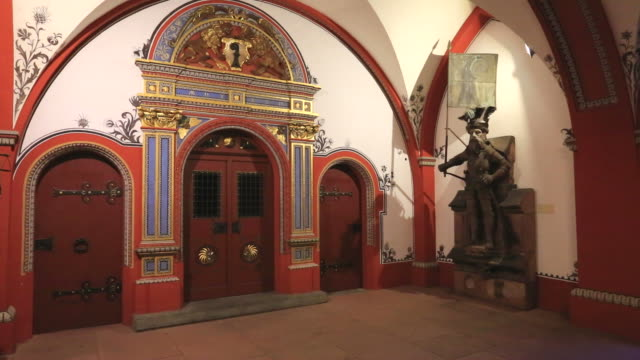 Interior of the Rathaus building (town hall) Marketplaz,