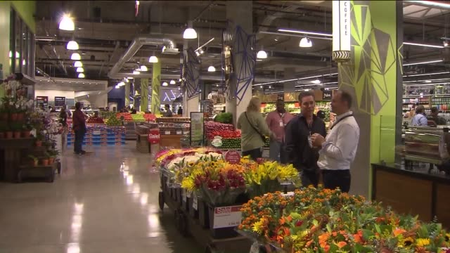 ktla interior of whole foods in downtown los angeles on november 4 2015 - whole foods market stock videos and b-roll footage