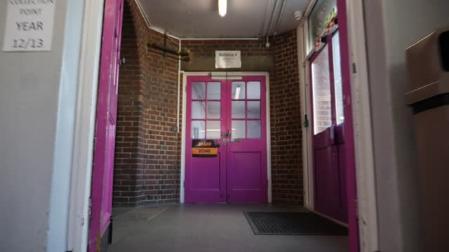 interior point of view shots walking through the empty corridors of barking abbey school after its closure due to coronavirus restrictions on 6... - general certificate of secondary education stock videos & royalty-free footage