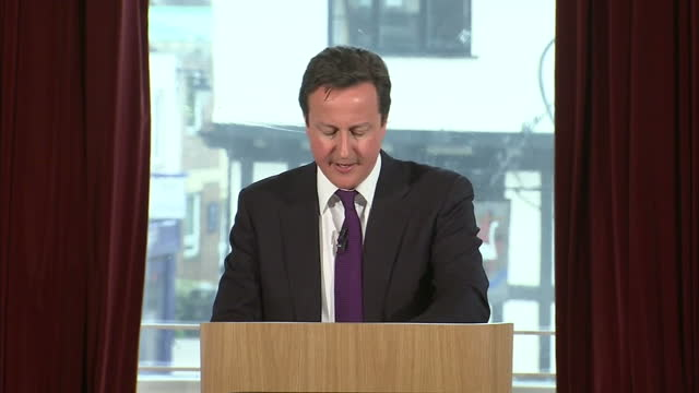 interior quote prime minister david cameron on how migrants have been filling the gap left open by the welfare system that has paid british people... - premierminister stock-videos und b-roll-filmmaterial