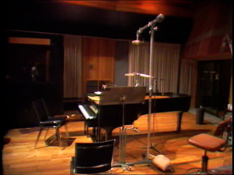 Interior Record Plant Recording Studios Chris Stone standing next to piano and microphone speaks of the special arrangement between the studio and...