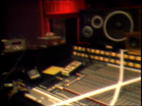 interior record plant recording studios, chris stone, standing next to piano and microphone, speaks of the special arrangement between the studio and... - recording studio stock videos & royalty-free footage