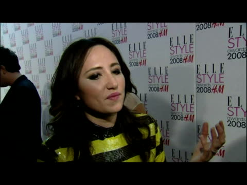 stockvideo's en b-roll-footage met interior red carpet interview kt tunstall with sky news reporter steve hargrave joined by jo whiley - jo whiley