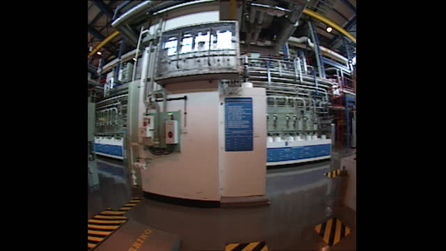interior selleafield nuclear plant using fisheye lens, 1998 - wide angle stock videos & royalty-free footage